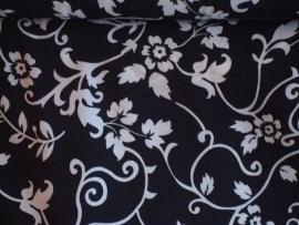 00 crep georgette zwart wit bloemmotief voorjaar 2014