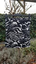 Tricot rok zwart offwhite zebra maat 44