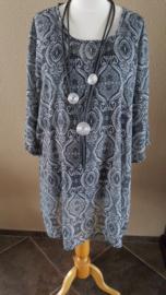 Tuniek jeansblauw paisly