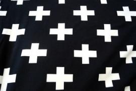 0 a001k3 tricot zwart wit plus