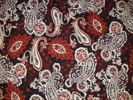 0 a13 tricot zwart grijs zand roodbruin paisly