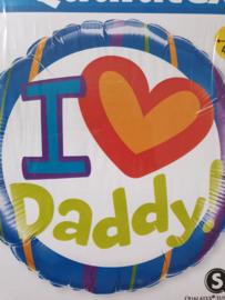 Folie ballon I love daddy