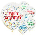 Confetti ballonnen Happy Birthday