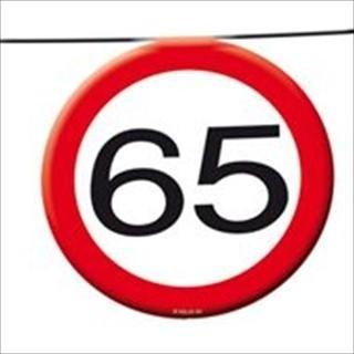 Vlaggenlijn verkeersbord 65 jaar