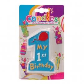 My first birthday Kaars Blauw