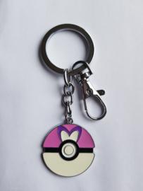 Sleutelhanger Pokeball Roze/Paars