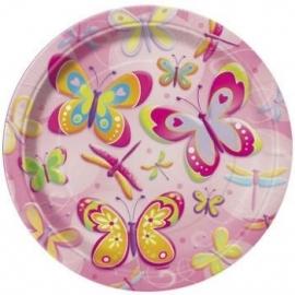 Vlinder/Libelle Bord 18 cm
