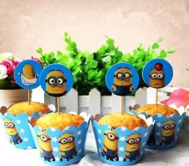 Minions Cupcake wikkels