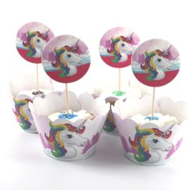 Eenhoorn cupcake wikkels
