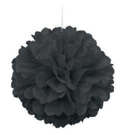 Hangdecoratie Pom Pom zwart
