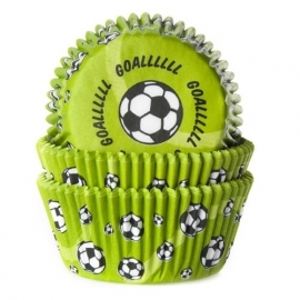 HoM Baking cups Voetbal Groen - pk/50