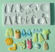 Alphabet Moulds On the beach