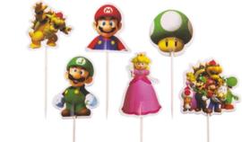 Super Mario Prikkers 24 stuks