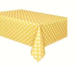 Tafelkleed polka dot Geel