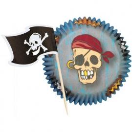 Cupcakevormpjes Piraten met prikkers