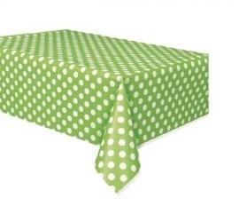 Tafelkleed polka dot Groen