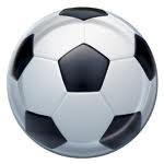 Voetbal gebaksbordje