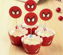 Spiderman Cupcake wikkels