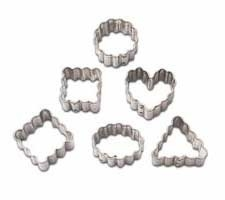 Wilton Mini Metal cutter set/6 - Geometric Crinkle