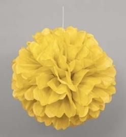 Hangdecoratie Pom Pom geel