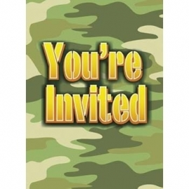 Camouflage uitnodigingen