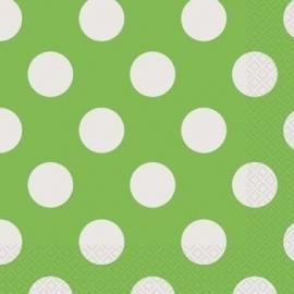 Servetten polka dot groen