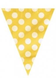 Vlaggenlijn Polka Dots Geel