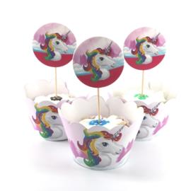 Eenhoorn cupcake houders