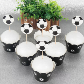 Voetbal Cupcake wikkels
