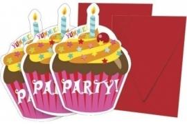 Cupcake Yummie Uitnodigingen