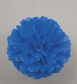 Hangdecoratie Pom Pom blauw