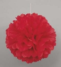 Hangdecoratie Pom Pom rood