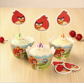 Angry Birds Cupcake wikkels