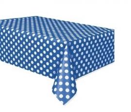 Tafelkleed polka dot blauw