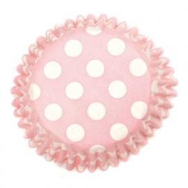 Culpitt Baking Case Spot Pink pk/54