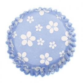 Cupcakevormpjes Culpitt Blossom Blue pk/54