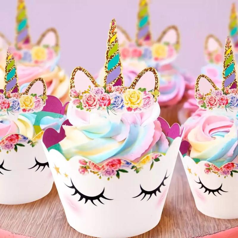 Eenhoorn  Beauty cupcake wikkels