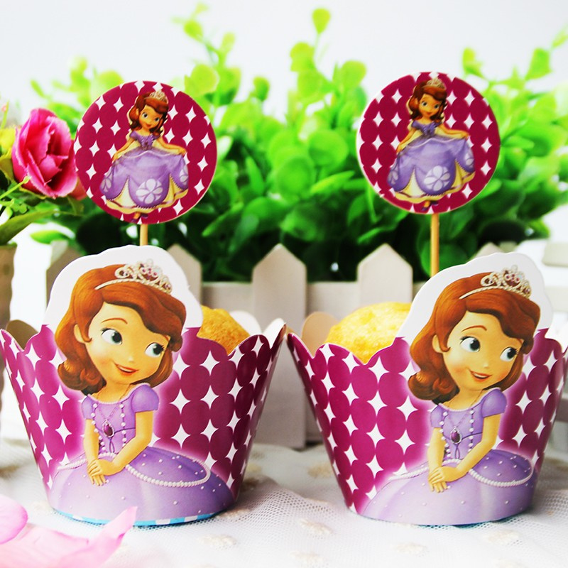 Prinses Sophia Cupcake wikkels