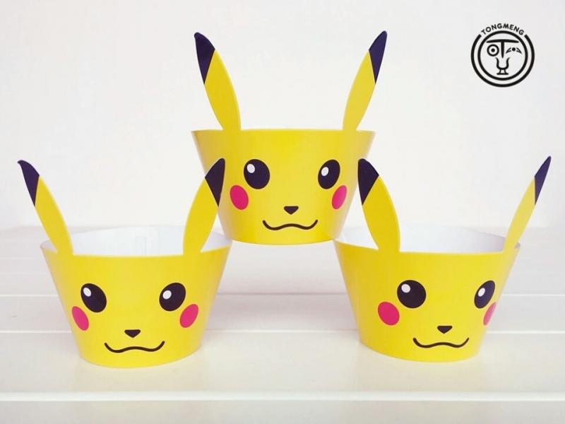 Pikachu Cupcake wikkels