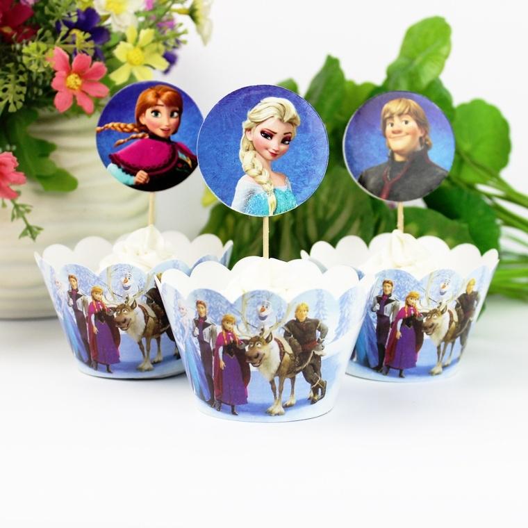 Frozen Cupcake wikkels