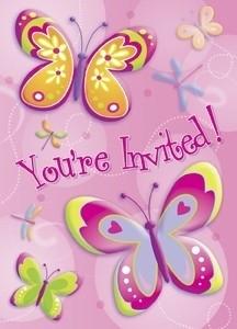 Vlinder/Libelle Uitnodigingen