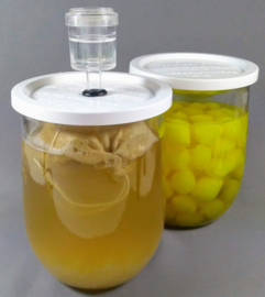Kefirpot - 1.0 l met waterslot