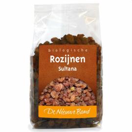 Biologische sultana rozijnen 500 gram (De Nieuwe Band)