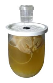 Kefirpot 1 liter - Met waterslot