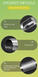 Holpijp voor kunststof deksels, 12 mm