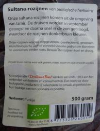 2015 Okt - Nieuw in assortiment: Ongezwavelde sultana rozijnen
