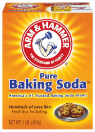 Baking soda (Natriumbicarbonaat, natriumwaterstofcarbonaat of NaHCO3)