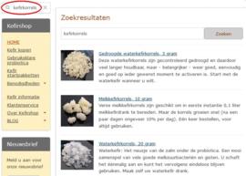 Multi zoekmachine en standaard zoekfunctie