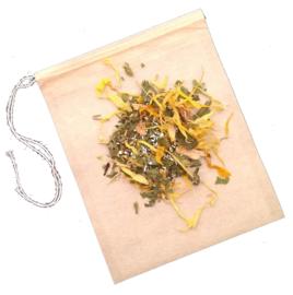 100 Papieren thee- en kruidenzakjes (waterkefirbereiding, middel / klein)
