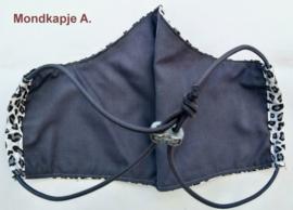 Handgemaakt katoenen mondkapje (verstelbaar)